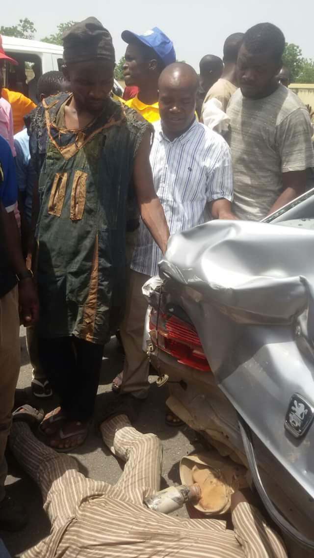 Bauchi APC Youth Leader Involved In Accident While Rushing To Meet Mrs Buhari (See Photos)
