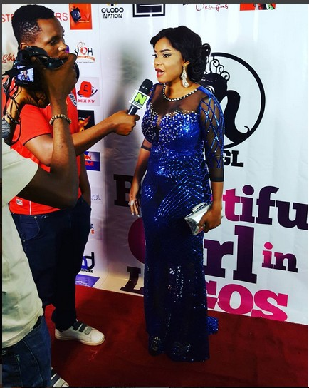 Actress Iyabo Ojo Sizzles In Lovely Blue Gown At Beauty Pageant In Lagos (See Photos)