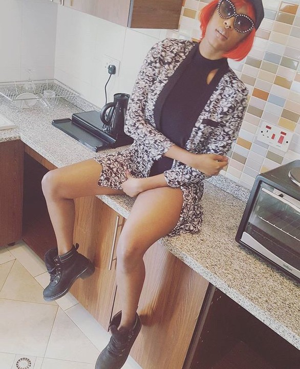 Cynthia Morgan Shows Off in Empty Kitchen while cooking Water