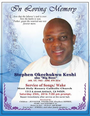 Stephen Keshi's Burial Date Set (Obituary Photo)