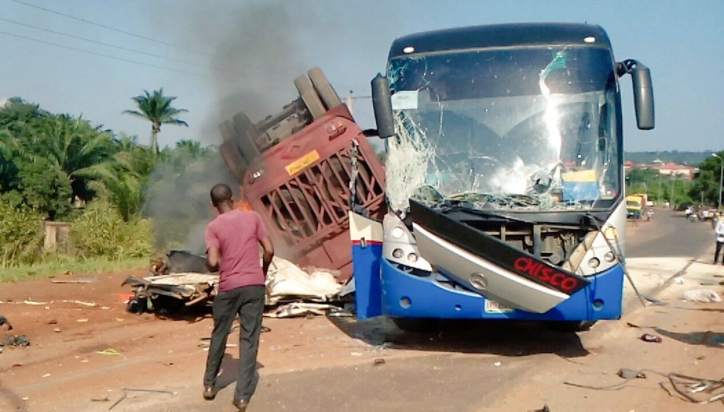 Ikorodu United Bus Involved In A Road Accident Enroute