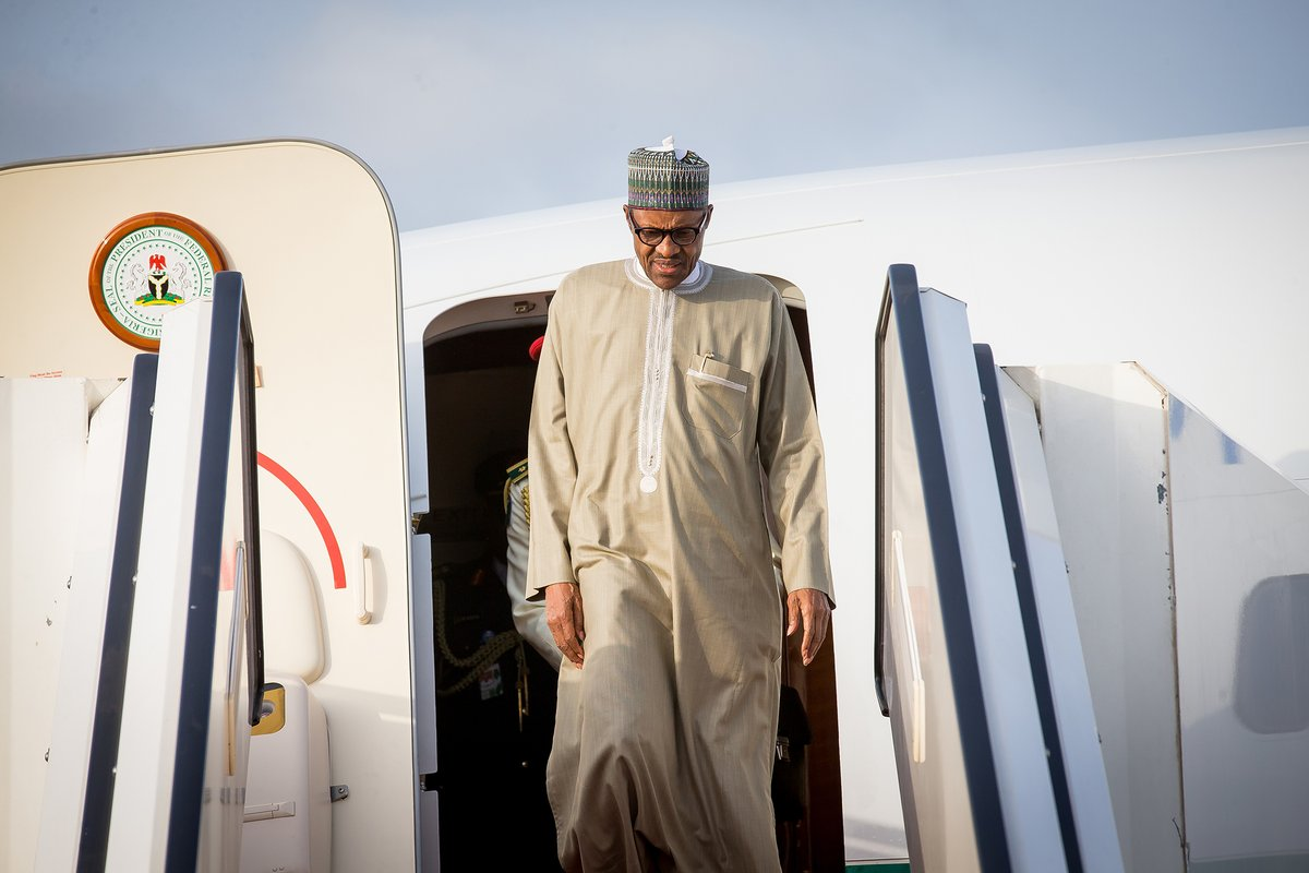 Photos: President Buhari Buhari returns to Nigeria