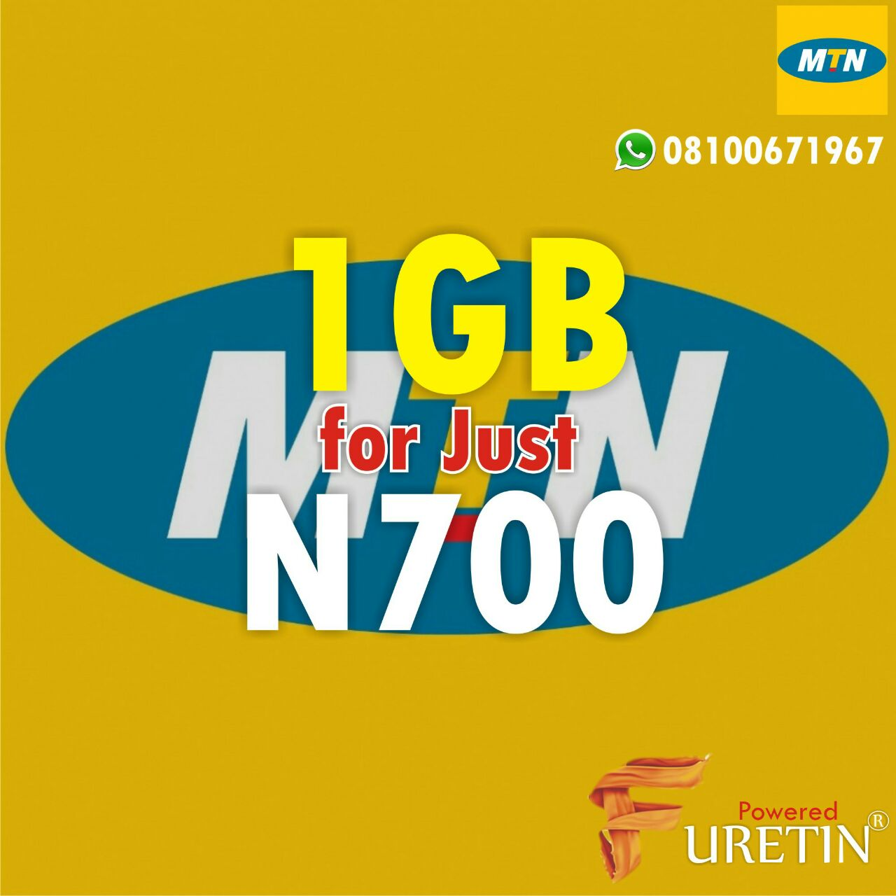 Great Deal: Buy Your MTN 1GB NOW for just N700 & GLO 4GIG ...