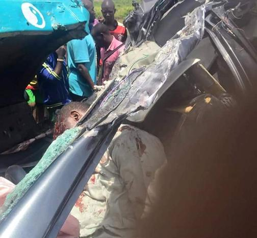 Graphic Photos: 4 Dies In Fatal Accident Along Kaduna Toll