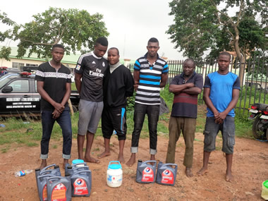 Producers Of Fake Engine Oil Arrested In Lagos (See Photo)
