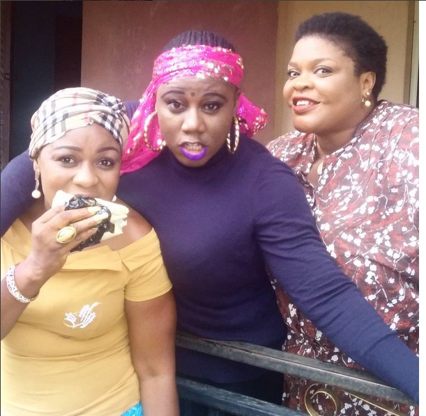 Fans Go Gaga Over  Photos Of Saheed Balogun Posing With Busty Women