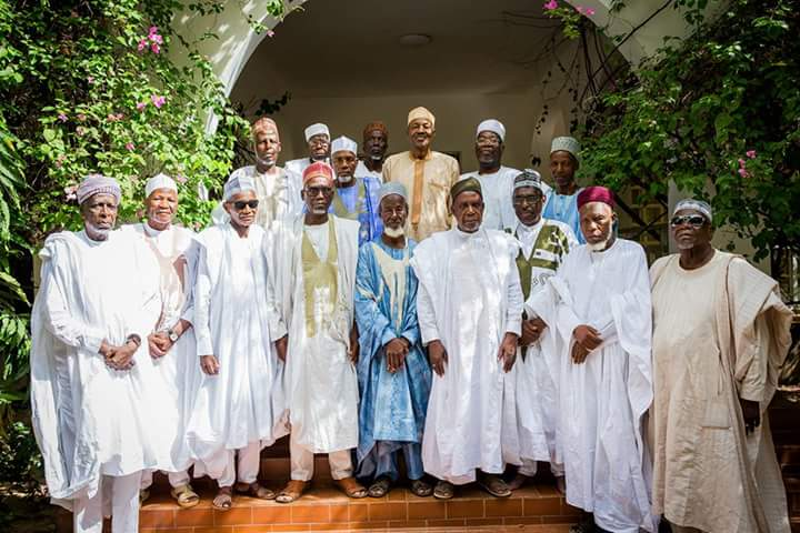 President Mohammadu Buhari Receives His Former Classmates[Photos]