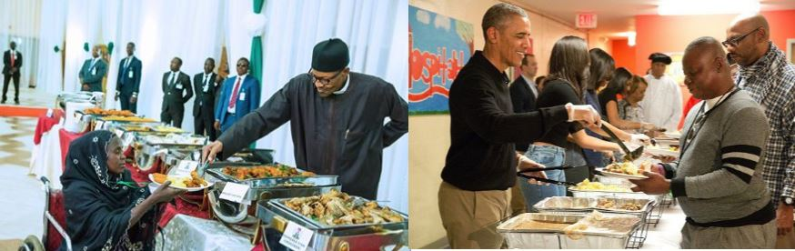 Buhari Vs Obama: Who Serves Food better? (See Photos)