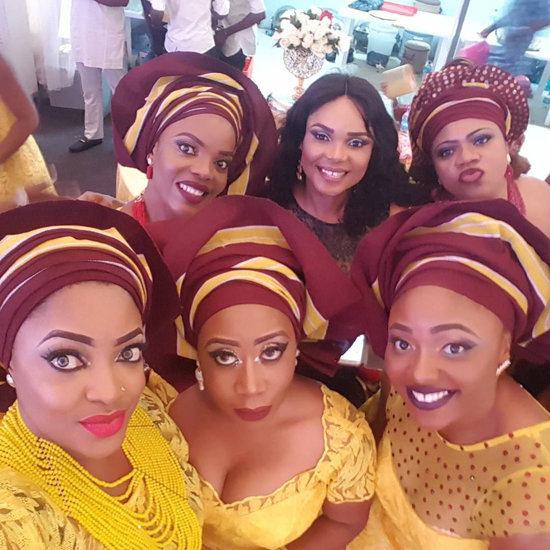 Image result for Nollywood Actresses Attend A Wedding Event In Heavy Makeup, Fans React (Photo)