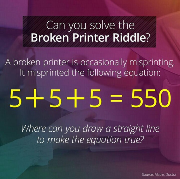 Can You Solve The Broken Printer Riddle? - Forum Games - Nigeria