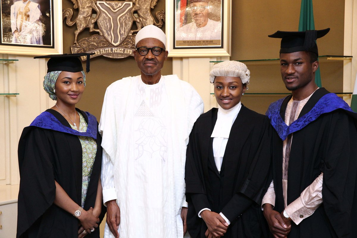 Photos : President Buhari With His Children In Their Graduation ...