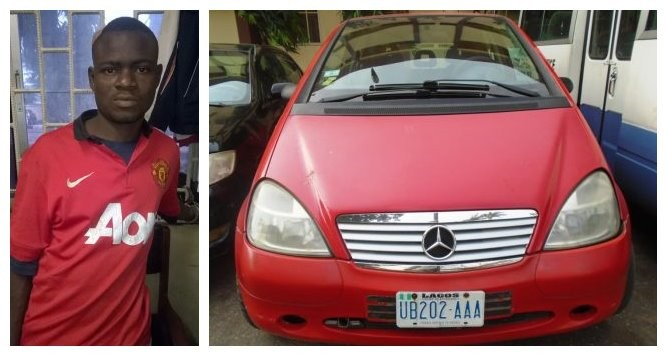 See How This Man Was Caught While Trying To Steal A Car At A Lagos Night Club (Photos)