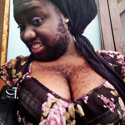 "Nigeria's Hairiest Woman"" Queen Okafor Shares New Photos"