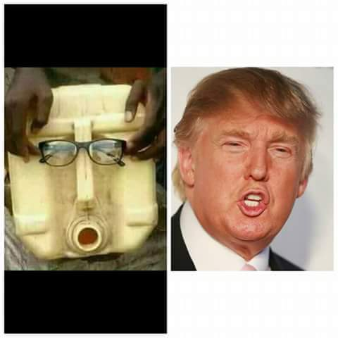 Donald Trump's Lookalike Spotted In Oshodi (Hilarious Picture)