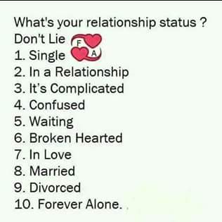 what is your relationship status