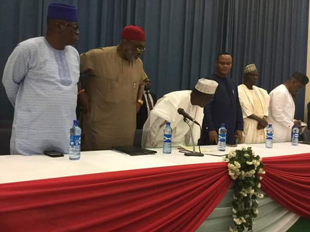 Live Photo: Inauguration Of Makarfi PDP Zoning Committee For August Convention