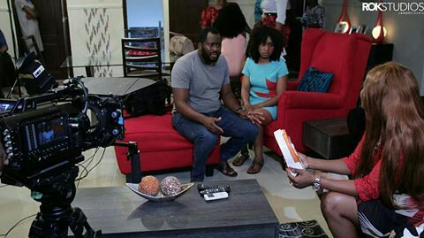 Actor Turned Politician, Desmond Elliot On The Set Of 'Single Ladies' (Photos)