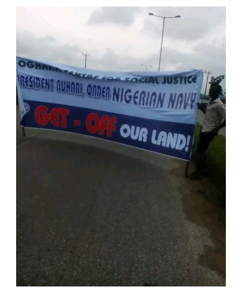 Protest Hits Niger Delta Community Over Heavy Presence Of Naval Officers (Photo)