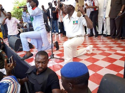 Oshiomhole In Action At APC Rally In Benin