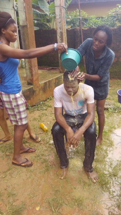 Ladies Pour Water On UNIBEN Final Year Student