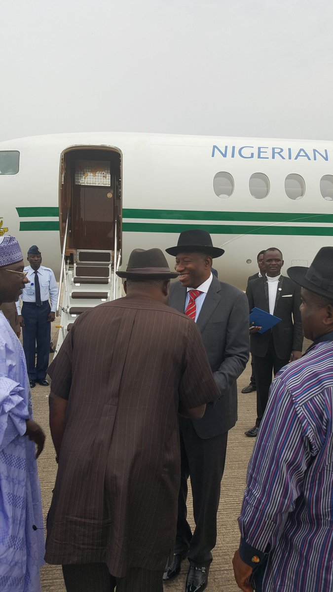 """Face Of African Democracy"", Jonathan, Leaves Nigeria For Zambia (Photos)"