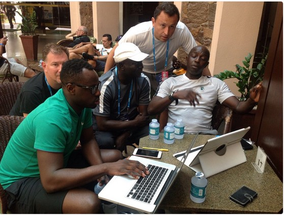 Coach Siasia Prepares Nigerian Team Ahead Of Next Match At The Rio Olympics (Pics)