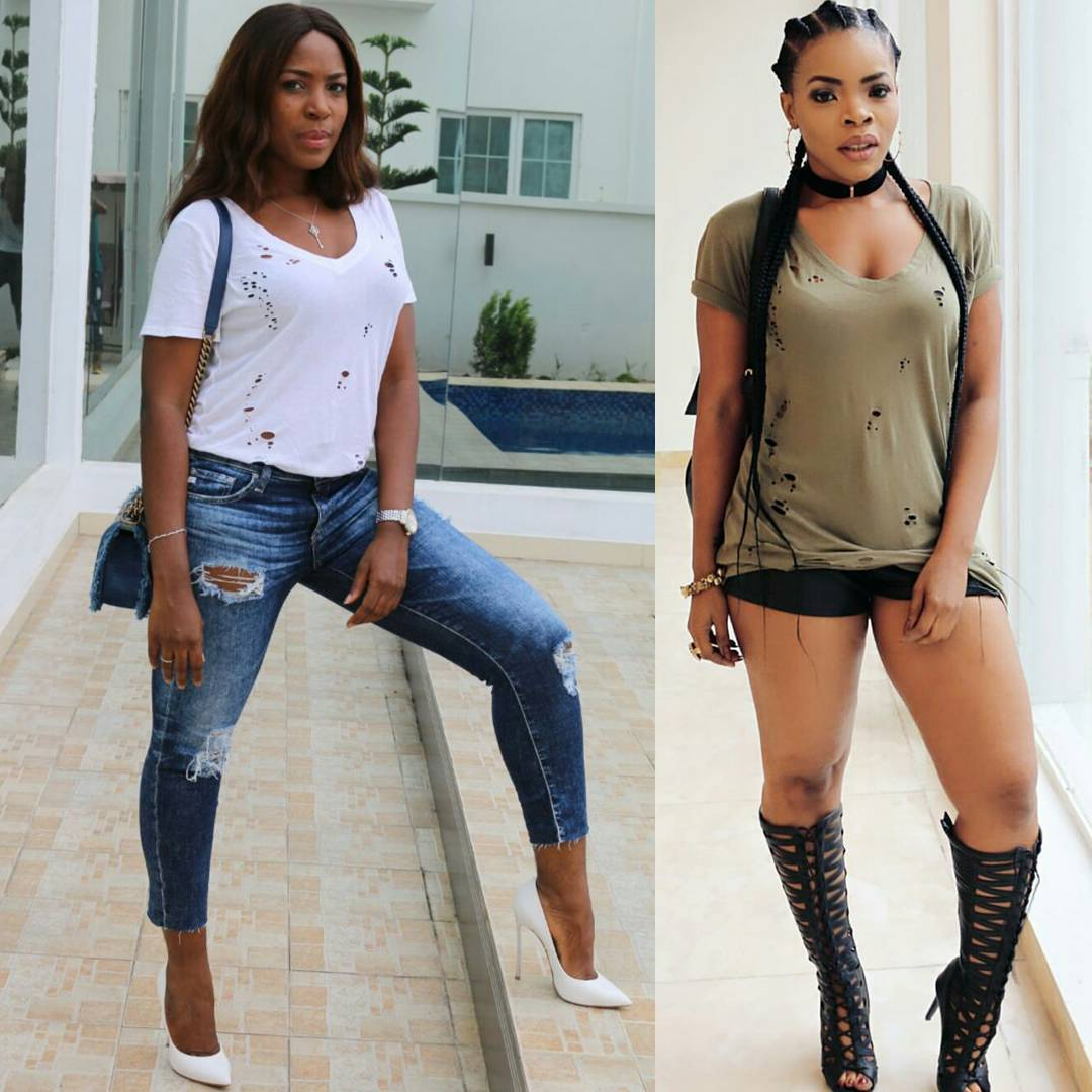 c31b6aa629 Linda Ikeji Wore A Ripped Jeans And Torn Shirt From Her Sister s ...