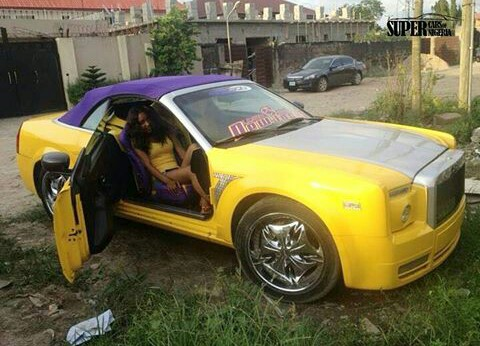 trolls blast naija big gal for pimping her chrysler 300 to a rolls