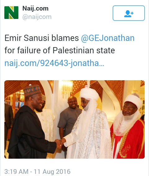 "FFK Tells Emir Sanusi ""Shut Up"" For Blaming Jonathan On Palestinian State (Photo)"