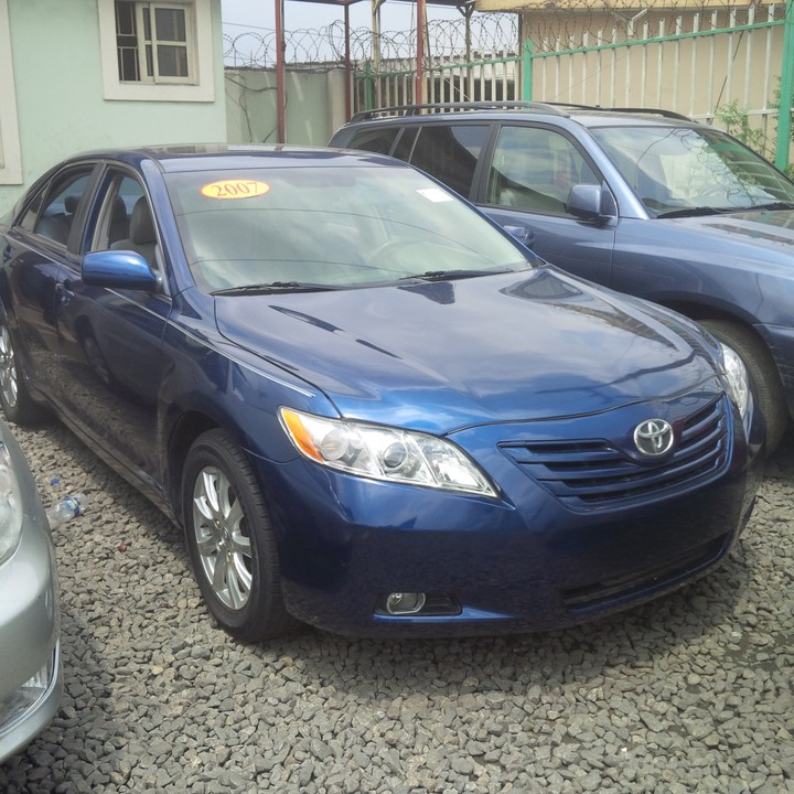 Toyota Camry Colors: S-O-L-D...Tin-can Cleared 2007 Toyota Camry Blue Color