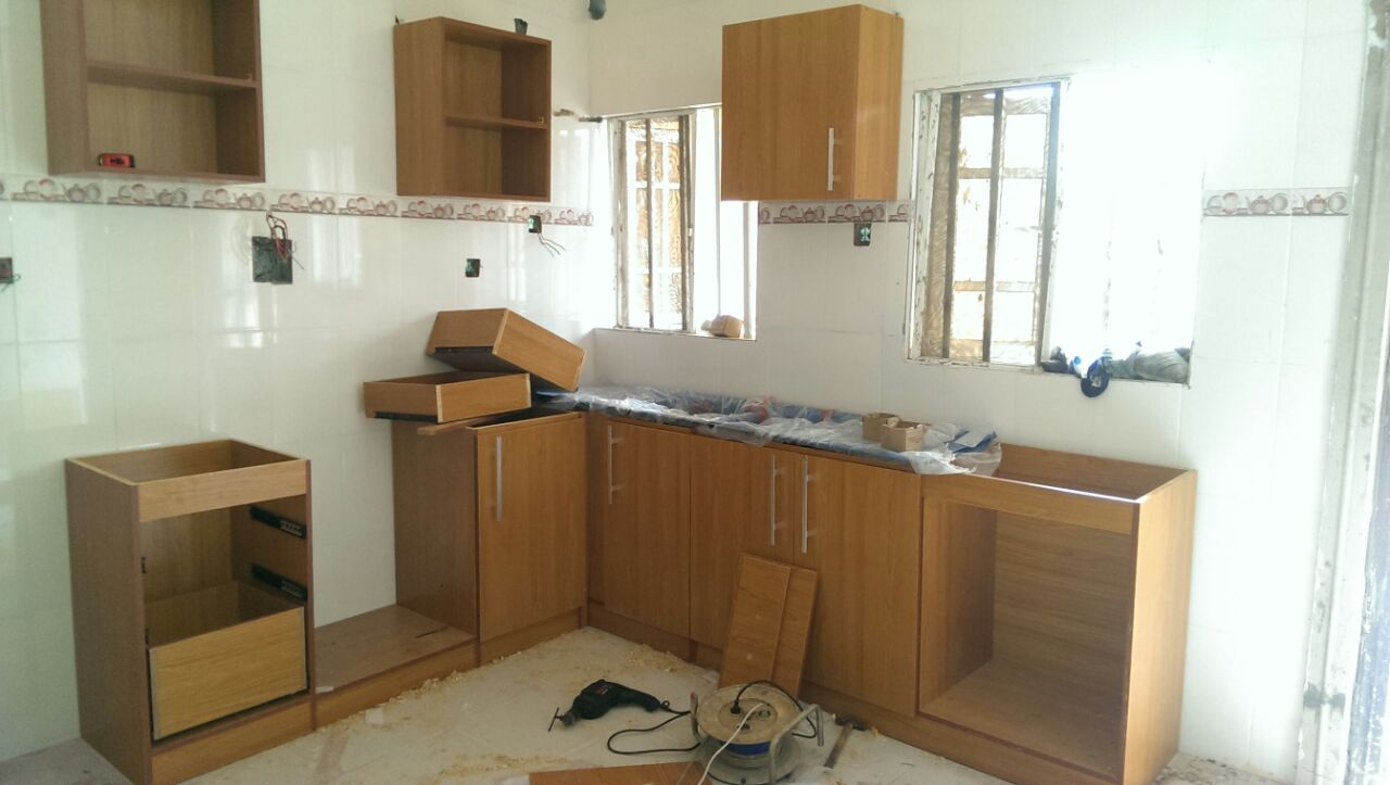 The making of wardrobes kitchen cabinets for for Kitchen cabinets nigeria