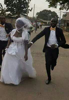 PHOTOS: Bride And Groom Spotted Running To Their Wedding Venue