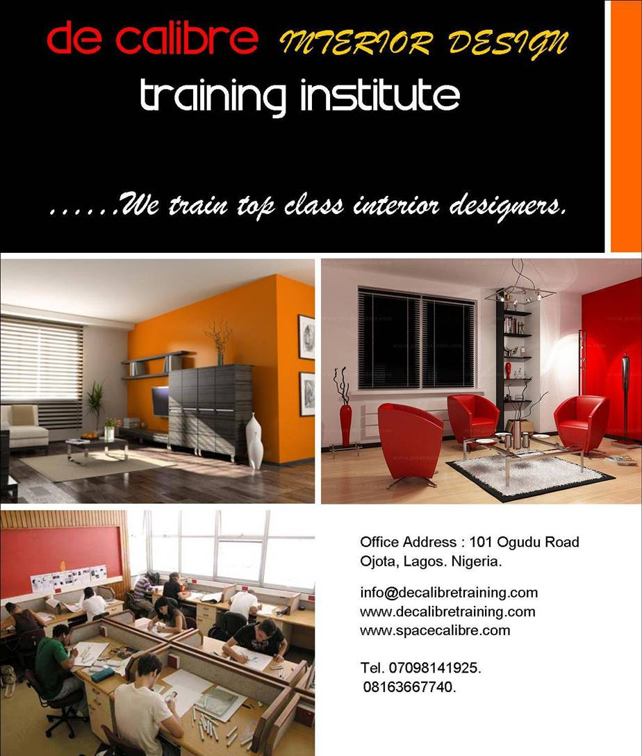 DE CALIBRE INTERIOR DESIGN TRAINING INSTITUTE YOU CAN NOW ENROLL IN OUR NEXT 3 MONTH MAY