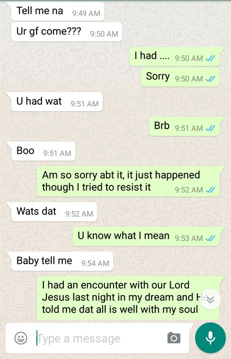 Hilarious Whatsapp Chat Between A Girl And Her Guy Romance Nigeria