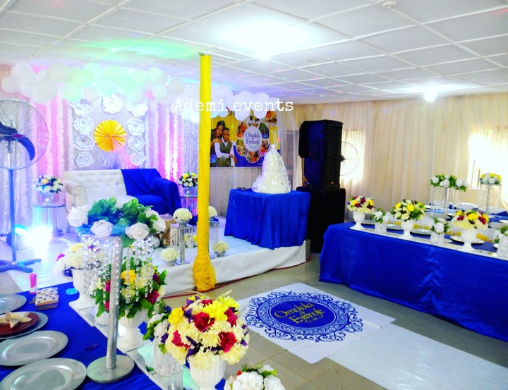 decoration wedding decorations reception events nigeria ademi ember decor event nairaland lovely promo 70k engagement setup classy affordable months