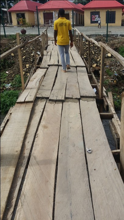 Wooden Bridge Scare Customers Away From The New Alade Market