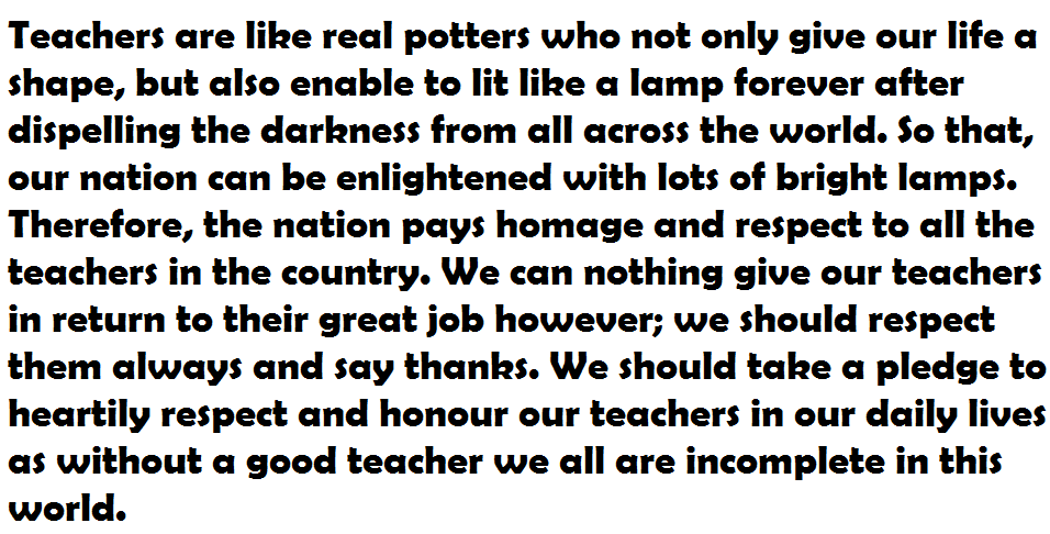 Teachers Day Essay Speech In Hindi-english 2016 - Events - Nigeria