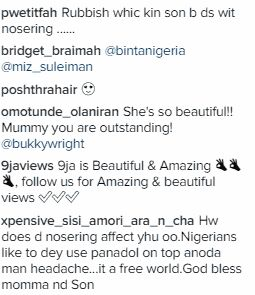 You Lack Home Training; Fans Blast Bukky Wright's Son, Ojayy For Wearing Nose Ring