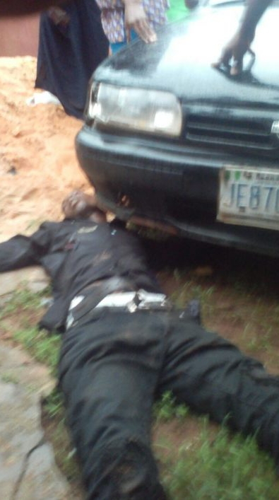 Eiye Gang Member Stoned To Death In Benin, Another Shot In The Stomach (Graphic Photos)