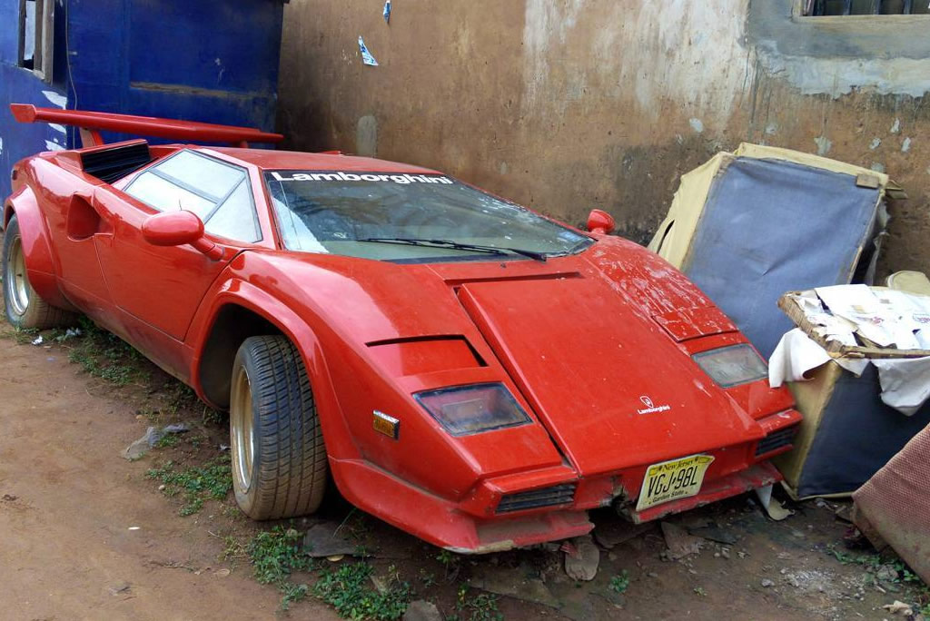 N200million Lamborghini Countach Abandoned In Lagos Car