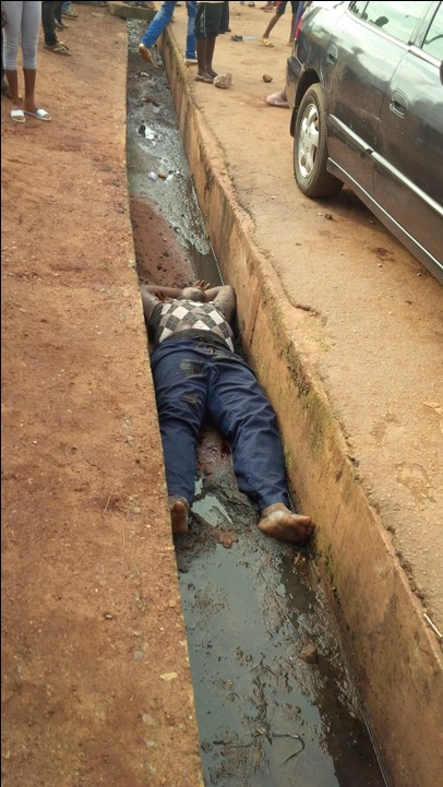This Man Was Shot Dead Yesterday Evening In Obiagu, Enugu (Graphic Photos)