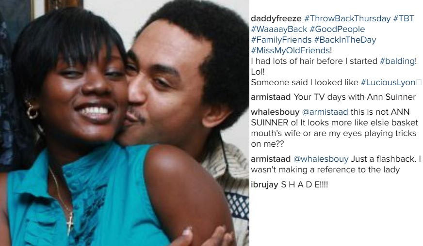 The Pic Of Freeze Kissing Basketmouth's Wife: Comedian Bovi & Elsie React (Photos)