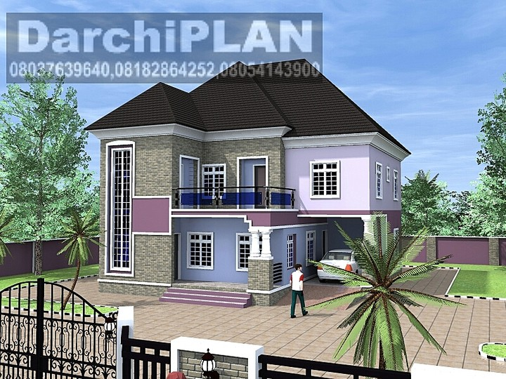 Whats d minimum cost of building a 5 bedroom duplex on for 5 bedroom duplex
