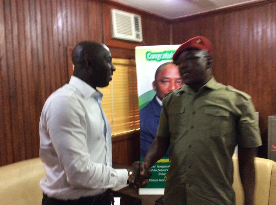 Siasia Visits Sports Minister, Dalung (Photos)
