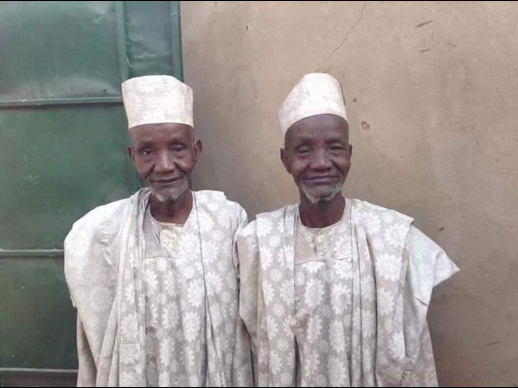 Check Out This Photo Of Elderly Identical Twins In Sokoto