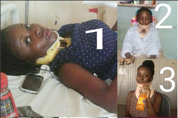 Image result for Girl Graduates With Good Grades After Surviving A Horrific Accident (Pics)