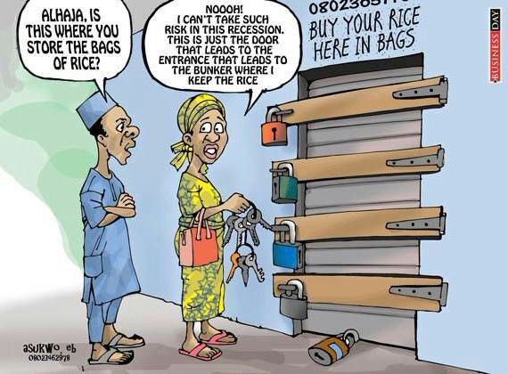 Recession: Woman Locks Her Rice Warehouse With Many Padlocks (Photo) - Jokes Etc