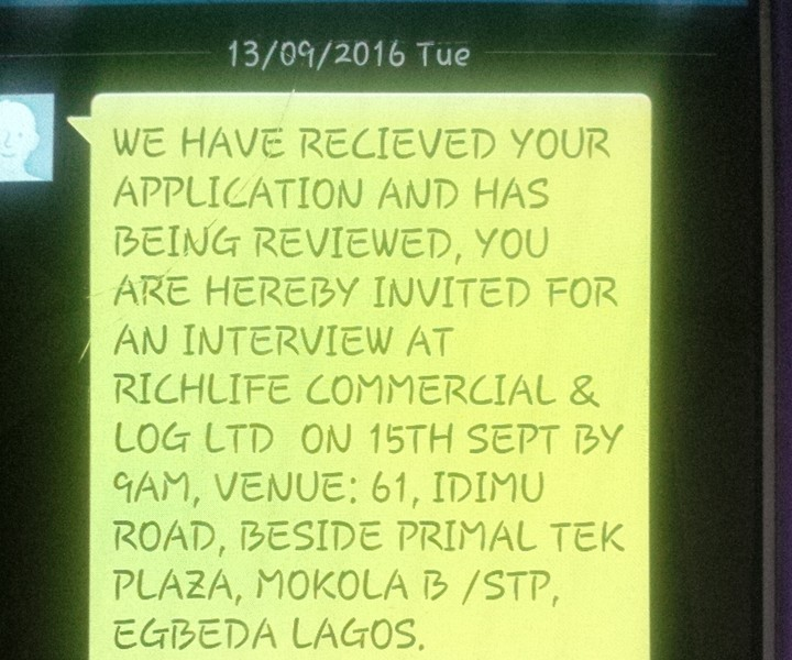 How to identify a scam interview invitation jobsvacancies 62 pls did any other person get invite for this richlife commercial and logistics limited interview tomorrow what is the company like and what is their salary stopboris Gallery