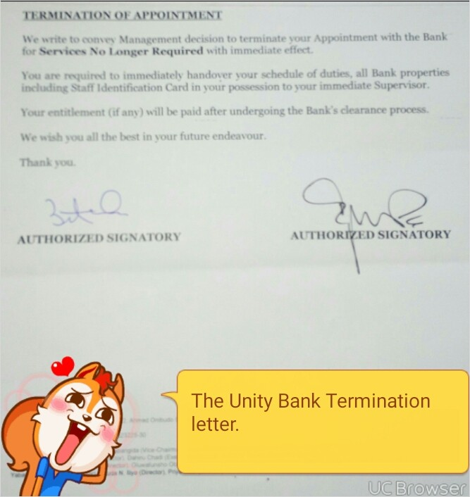 Image result for UNITY BANK SACKS
