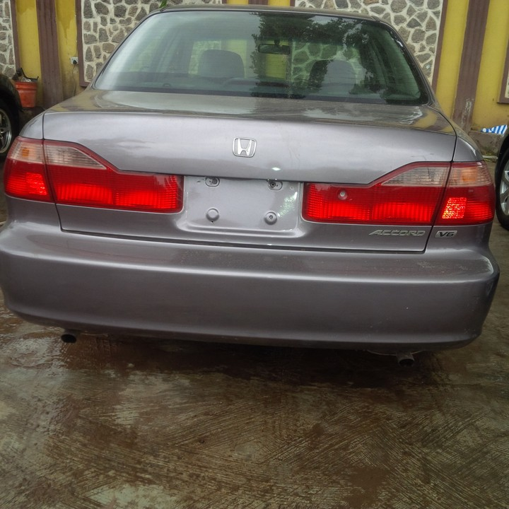 Perfectly Baked, Cotonou Duty Fully Paid, Slightly Negotiable,  Price:840,000. Mileage:125710km. Chassis;1HGCG1653YA069399 Contact:  07063985335